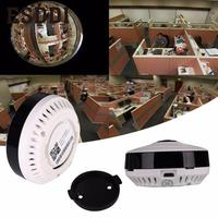 2017 New Hot Popular 960P HD Fisheye Wireless Wi Fi IP Camera Webcam US Plug IR