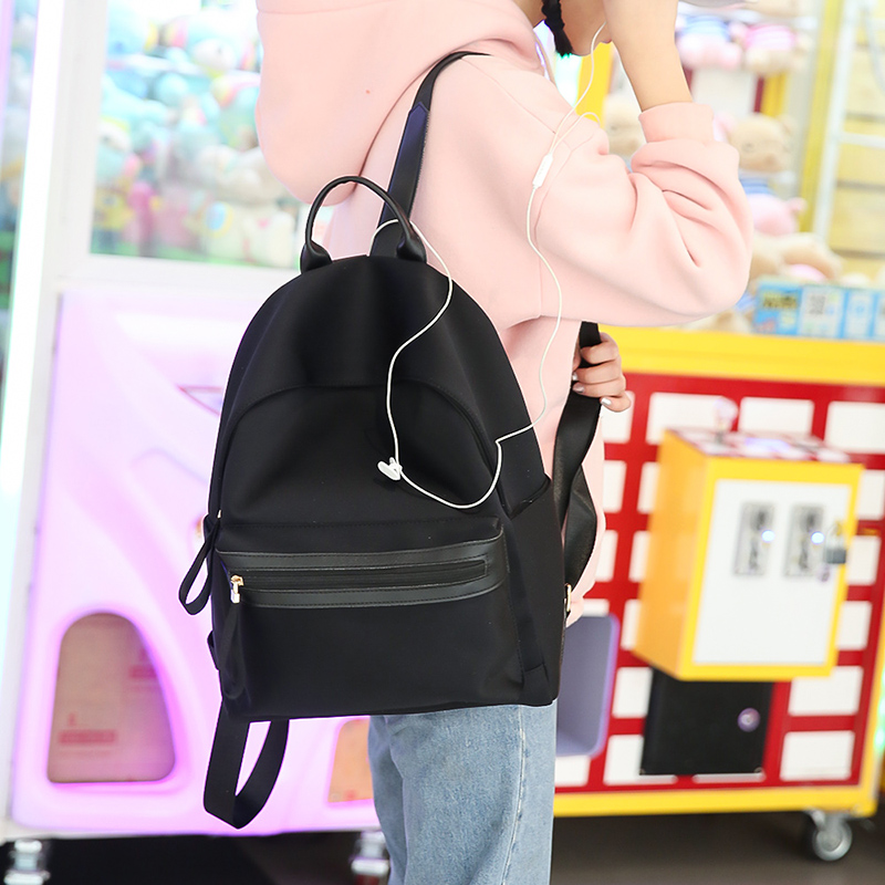 2018 Women famous brand Backpack New Fashion feminine Nylon backpack for teenage girls school bag ladies Small backpack Black famous brand laifu design women lightweight nylon bag teenage girls school backpack preppy style shopping travel black coffee page 9 page 7 page 1