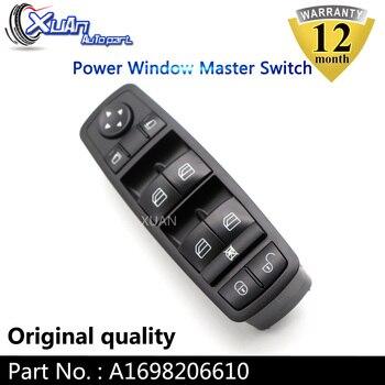XUAN Linksvoor Driver Side Vermogen Window Master Control Switch A1698206610 Voor Mercedes-Benz B-Klasse W245 EEN -klasse W169