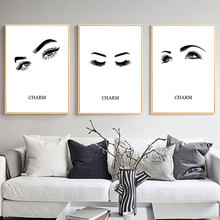 Eye Lashes Poster Makeup Canvas Painting Eyes Posters and Prints Abstract Art Paintings for Living Room Wall Unframed