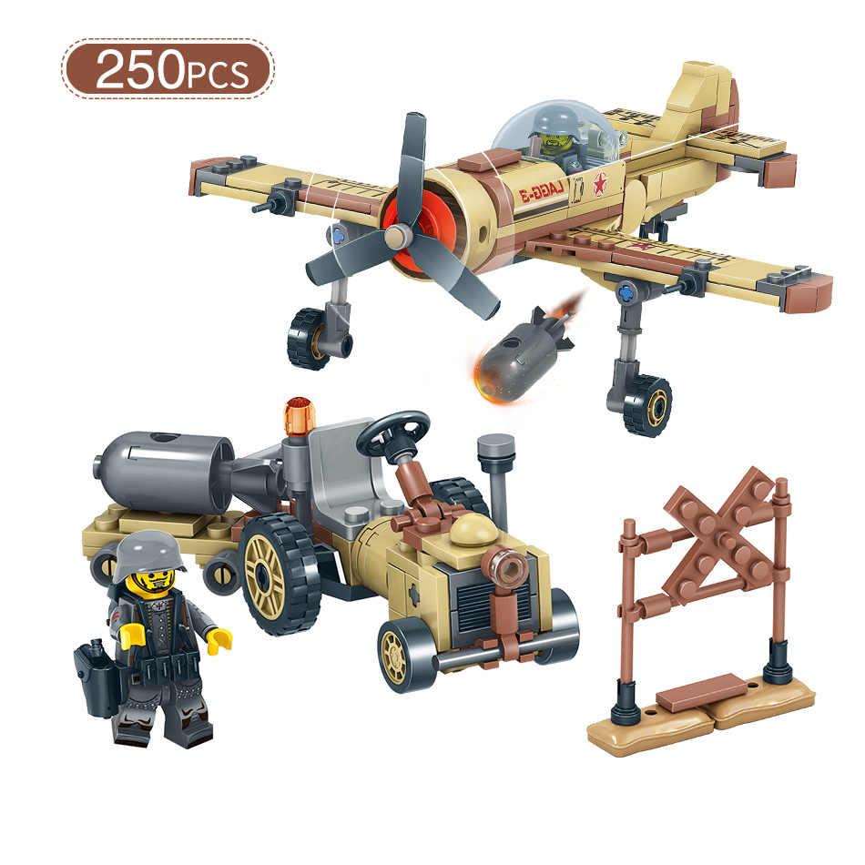 4в1 WW2 военный спецназ Solider модель самолета строительные блоки Совместимость с legoingly Танк грузовик спецназ фигурка автомобиля Кирпичи Игрушки