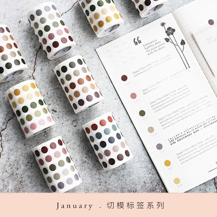 Moodtape  Washi  Tape  Label Cutting Tape  Scrapbooking Album  Diy Handmade Decoration Sticker Masking Tape Paper