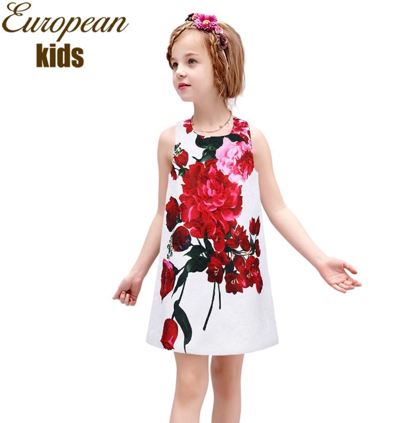 Primavera y verano ropa infantil roja nueva chica vestido impreso correa de hombro arco princesa puff vestido de Pompon, as picture, BYQYWKL € € Ahorre: 61% descuento.