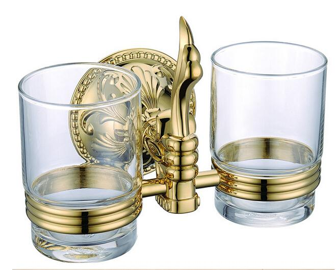 Antique European classical Roman style Bathroom Accessories Gold finish double Tumbler Holder Toothbrush Cup Holder. Compare Prices on Roman Bathroom Accessories  Online Shopping Buy