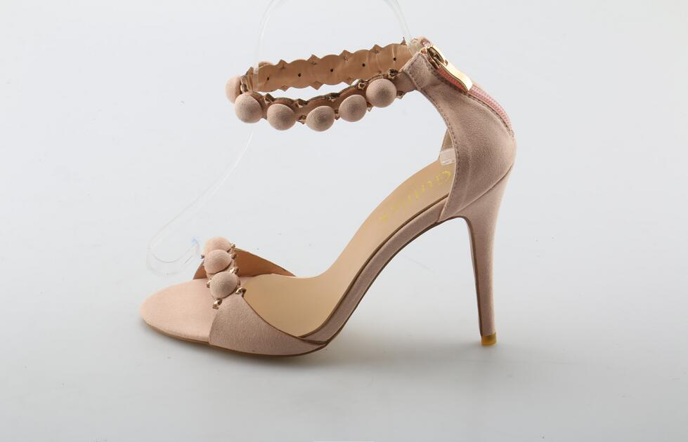 Sexy Open Toe Woman Sandal 2018 Summer Ankle Strap High Heel Sandal Rivets  Studded Thin Heels Gladiator Sandal Big Size 10 0a828fb1e1f0