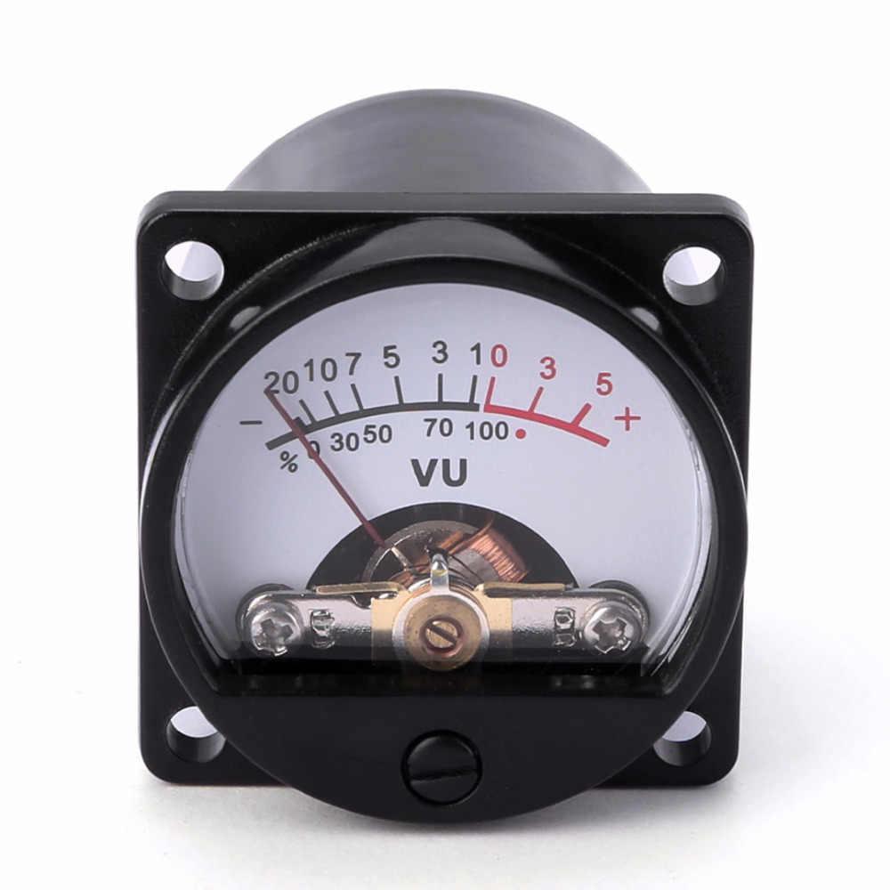 1pc panneau VU mètre 6-12V ampoule chaude rétro-éclairage enregistrement niveau Audio ampèremètre équipement électrique taille 35x35mm