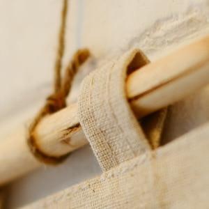 Image 4 - Creative toile coton stylo lunettes portefeuille ciseaux lettre tenture murale maison bureau sac de rangement CU