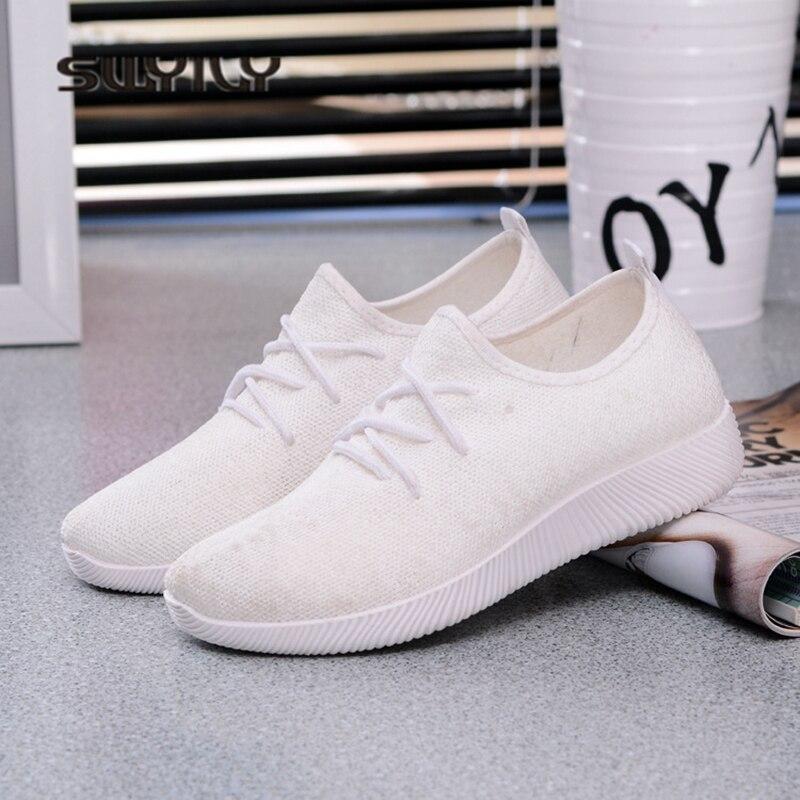 pourpre blanc Poids Chaussures Lumière Sneakers Noir Plat Couleur Respirant 2018 Net Femme Casual rose 41 Solide Swyivy De Sucrerie IqwxUf8TI