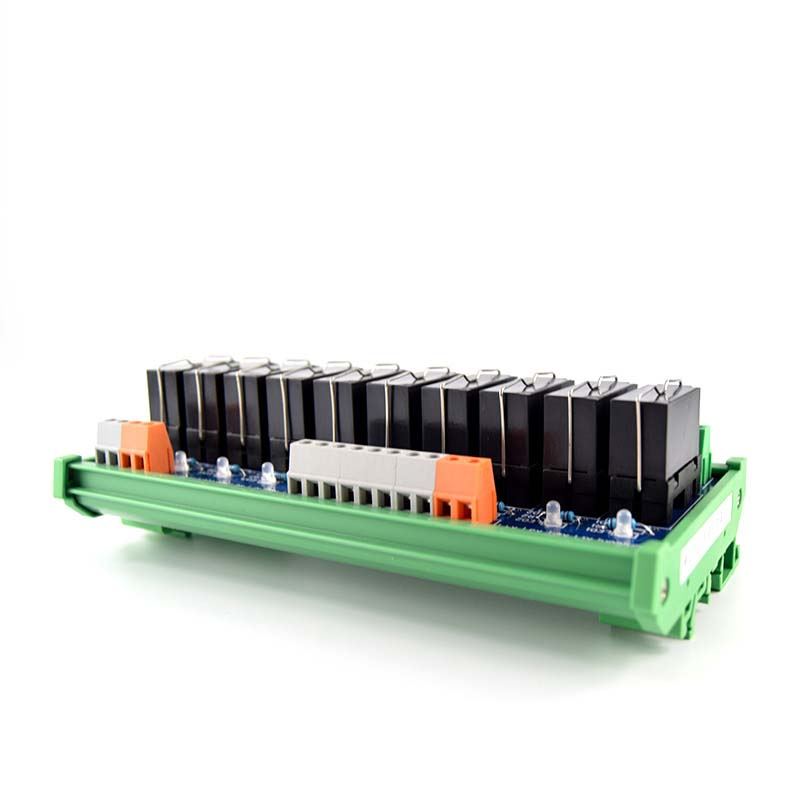10 way original Fujitsu relay module 24V module with rail mounting PLC controller plc amplifier board in Relays from Home Improvement