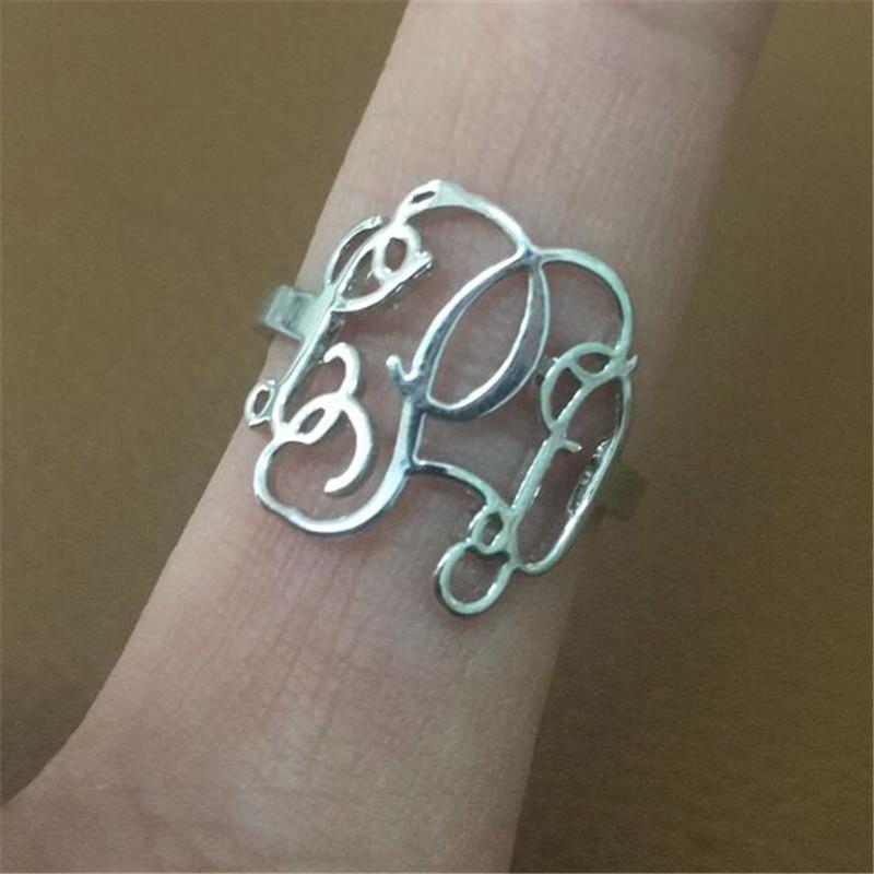 Özel Özel Kişilik Monogram Harfleri Cooper / Paslanmaz Çelik / - Kostüm mücevherat - Fotoğraf 5