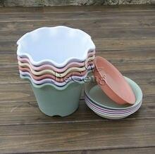 Wave Lace Flower Pots (Diameter 165mm x 120mm Height) * Plastic Plant Pots * Garden Bonsai Pots *