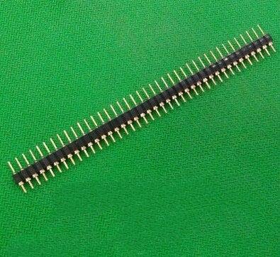10 Uds. Pin de conector cabezal tira chapada en oro macho de una sola fila 40 Pin 2,54mm conector macho Breakable tira envío gratis