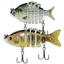 6 Segment 1PCS Multi Jointed Fishing Lure 6/8CM 10/14G Minnow Plastic Artificial Wobbler Tools Jerk Fish Esca Tackle