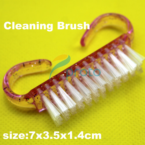 Freeshipping- 10x Plastic Handle Pink Nail Art Dust Clean Cleaning Brush Manicure Pedicure Tool SKU:F0082XX