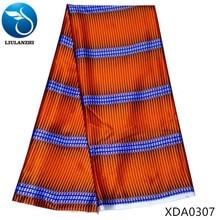 LIULANZHI african silk dress wax fabric 2019 chinese printed for Woven XDA03