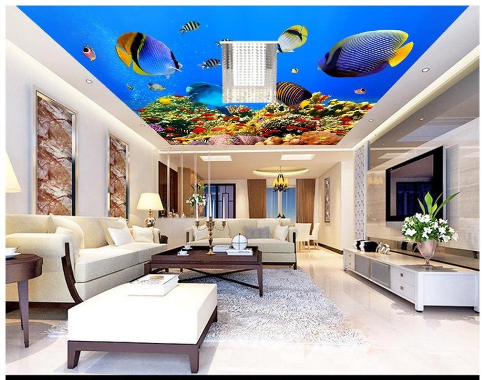 Custom 3d Photo Wallpaper 3d Ceiling Murals Wallpaper