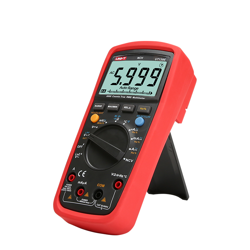 UNI T UT139E Digital Multimeter DC AC 1000V Auto Range True RMS Meter Handheld Tester LPF Pass Filter LoZ Low Impedance Input in Multimeters from Tools