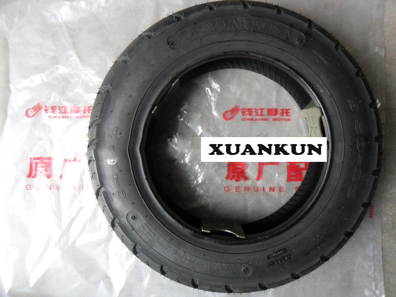 XUANKUN Motorcycle Accessories QJ125T-3A Vacuum Tires 3.50-10 6-layer Scooter xuankun gy6125 scooter motorcycle accessories motorcycle rear fender tile mud