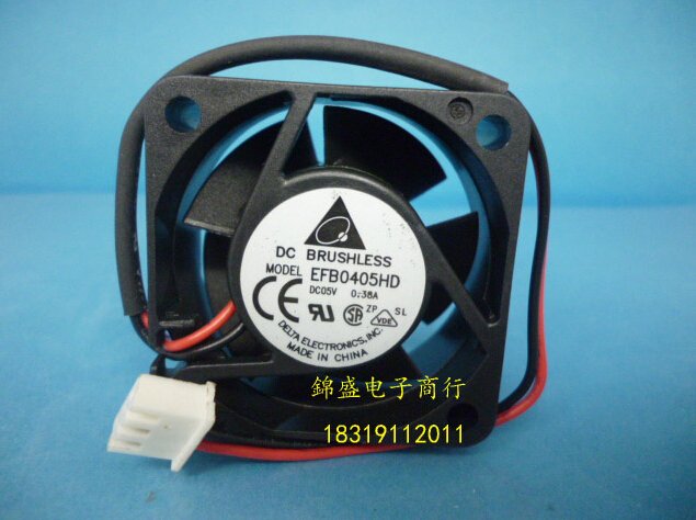 original DELTA EFB0405HD 40*40*20 5V 0.38A 2 line of server fan