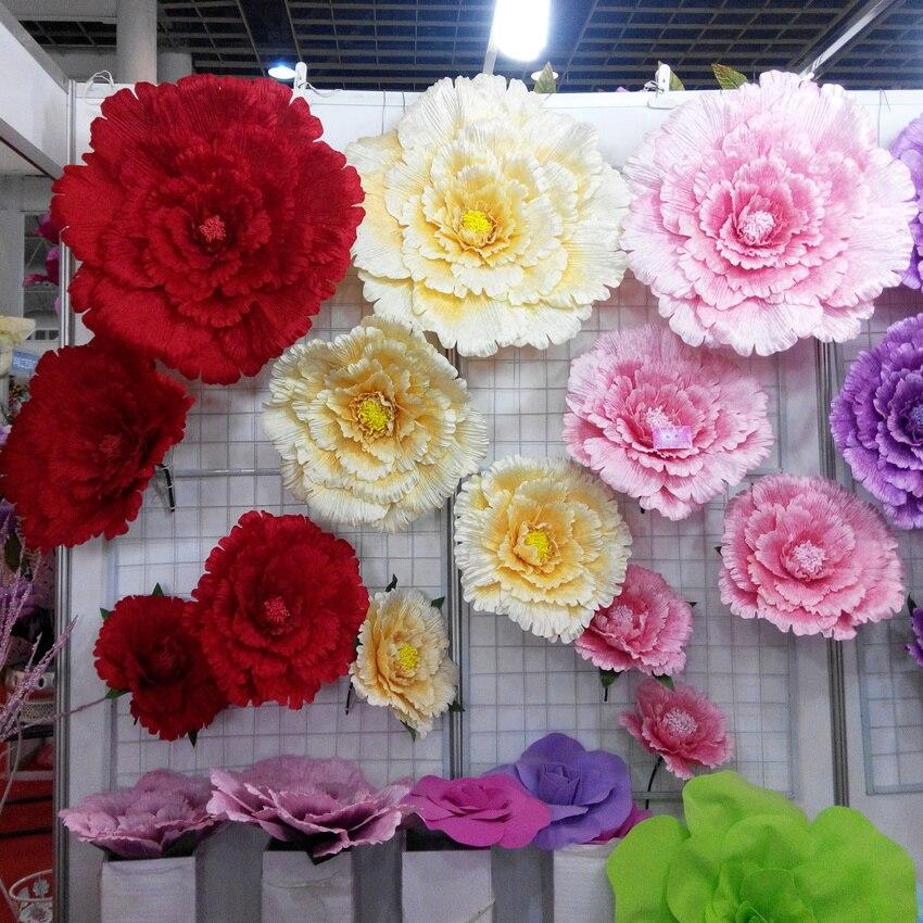 50 60 70 80cm Large artificial flowers Peony Wedding background font b Decorative b font flower