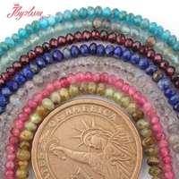2x3-2x4mm Facettes Rondelle Quartz Naturel Pierre Perles Pour DIY Collier Bracelet Bijoux Faire Spacer Strand 15