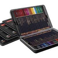NYONI 12/24/36/48/72 color tin box set water-soluble colored pencils watercolor pencils Colored Pencils Art Sketch Colour Pencil