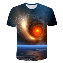 Harajuku Galaxy Tshirt Men/women Universe Space T Shirt Hip Hop Tee 3d Print Cool Mens Clothes 2019 Summer Hiphop Tops