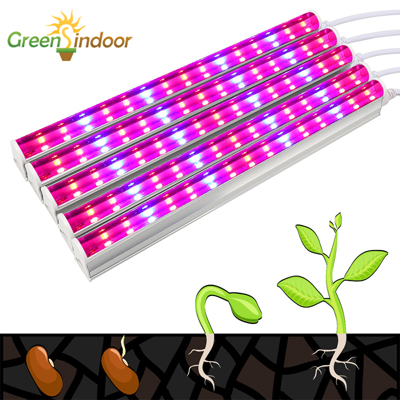 30W LED Grow Light Full Spectrum SMD5730 T5 Lamp For Plants Fitolampy Phyto Lamps 5 Grow Tent LED Strip Indoor Seedlings Lights