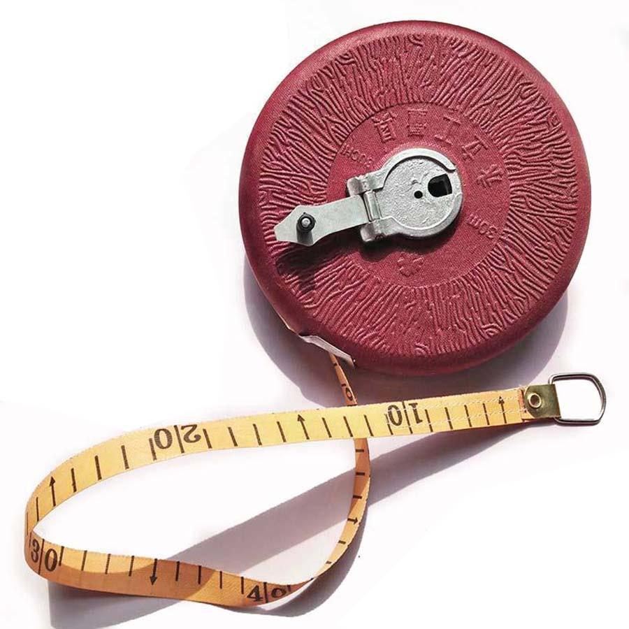 Eerlijk 100 M Jute Meetlint 100 Meters Tape Meter Heerser Bouw Meetinstrumenten