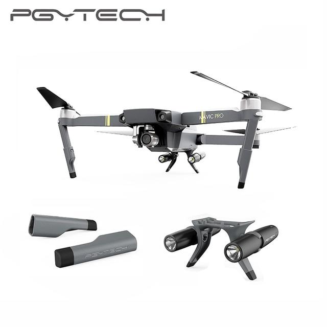 995bd542361 PGYTECH Extended Landing Gear Extension Legs Holder Skeletons with LED  Headlamp Set For DJI Mavic Pro