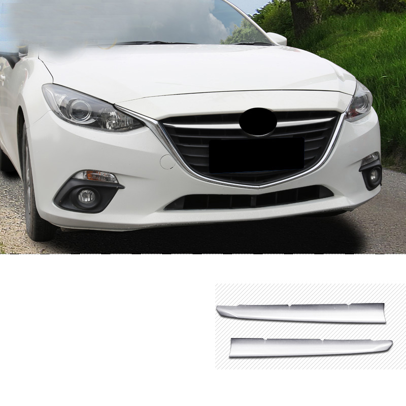 US $14 03 22% OFF|For Mazda 3 Axela 2014 2015 2016 ABS Chrome Front  Radiator Mesh Grille Grill Cover Trim Sticker Decoration covers Car  Styling-in
