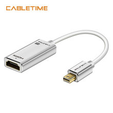 Cabletime Mini Display port to HDMI Adapter M/F 1080P Thunderbolt Mini DP to HDMI for MacBook Pro Air iMac projector N169(China)