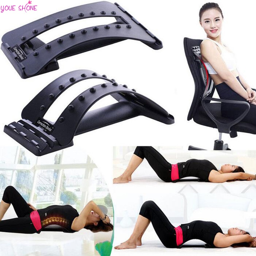 YOUE SHONE Back Massage Stretcher Stretching Magic Lumbar Support Waist Neck Relax Mate Device Spine Pain Relief Chiropractic manual inflatable spine pain relief back massage cushion lumbar traction stretching device waist spine relax health care