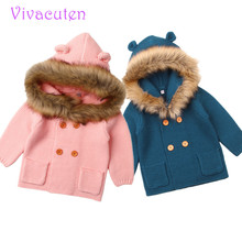 Vivacuten Baby Girls Knitted jacket Children Sweater 2018