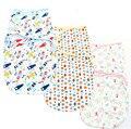 Детские inbakeren хлопчатобумажной намоткой ткани новорожденных милый мультфильм аден анаис муслин пеленать ребенка одеяло wikkeldeken спальный мешок