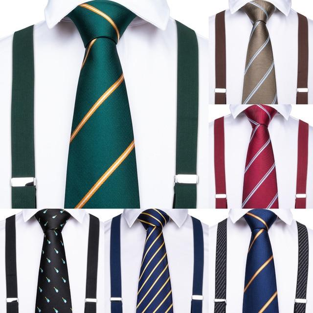 Подтяжки мужские кожаные, роскошные винтажные повседневные с 6 зажимами, для брюк и вечеринок, подарок для мужчин, 20 видов