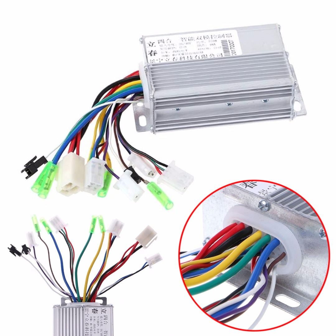 1pc New 36V/48V 350W Brushless DC Motor Controller For Electric Bicycle E-bike Scooter ootdty aluminium 36v 48v 350w electric bicycle e bike scooter brushless dc motor controller