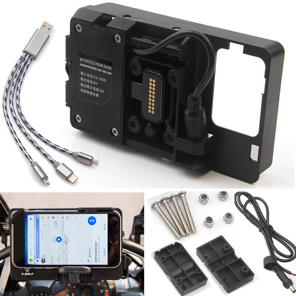 Suporte de Navegação Do Telefone móvel Para BMW R1200GS R1200 GS ADVENTURE F700GS F800GS Africa Twin CRF1000L Carregamento USB Montar Titular