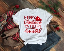 Merry Christmas Ya Filthy Animal unisex t-shirt Home Alone Christmas movie gang funny graphic casual aesthetic tumblr shirt tees