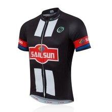 Hot SAIL SONNE Männer Radfahren Jersey Top Bike Kleidung Schwarz Weiß männlichen Pro Fahrrad Shirts Jacke MTB Kurzarm Sommer Bikewear