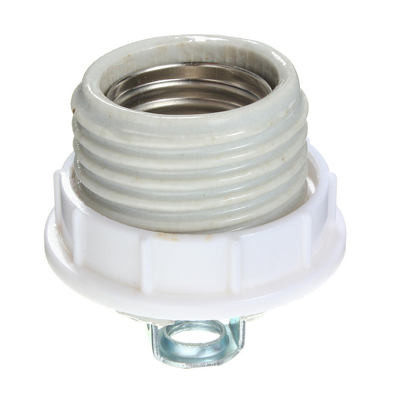 Ceramic E27 Lamp Base Cap Base Screw Socket Heat Lamp Fitting Light Bulb Lamp Holder Adapter Converter