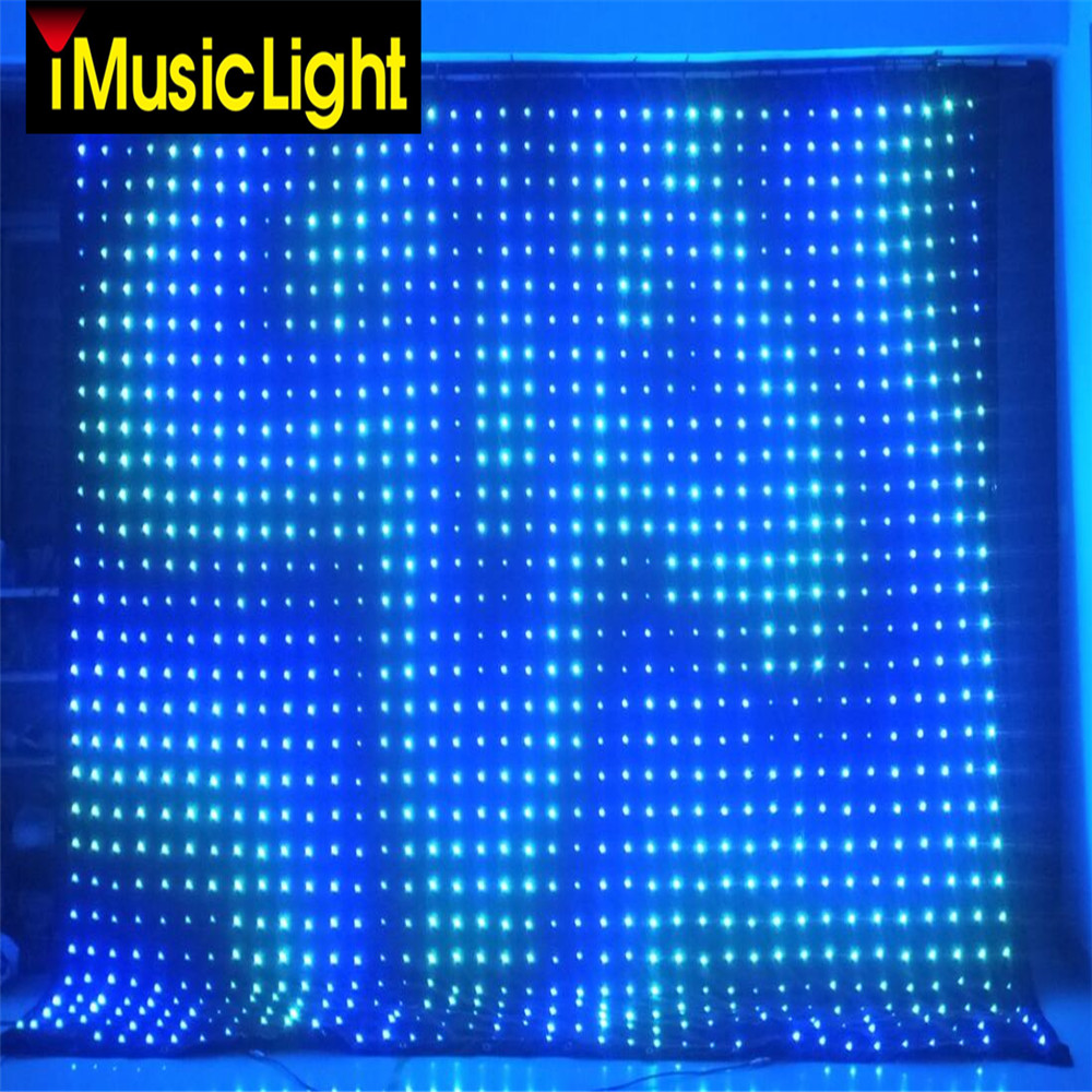 US $1269 0 |2mx5m LED Video Curtain Matrix P10 Backdrop Wedding Stage DJ  Pub PC/DMX Control With Software-in Stage Lighting Effect from Lights &