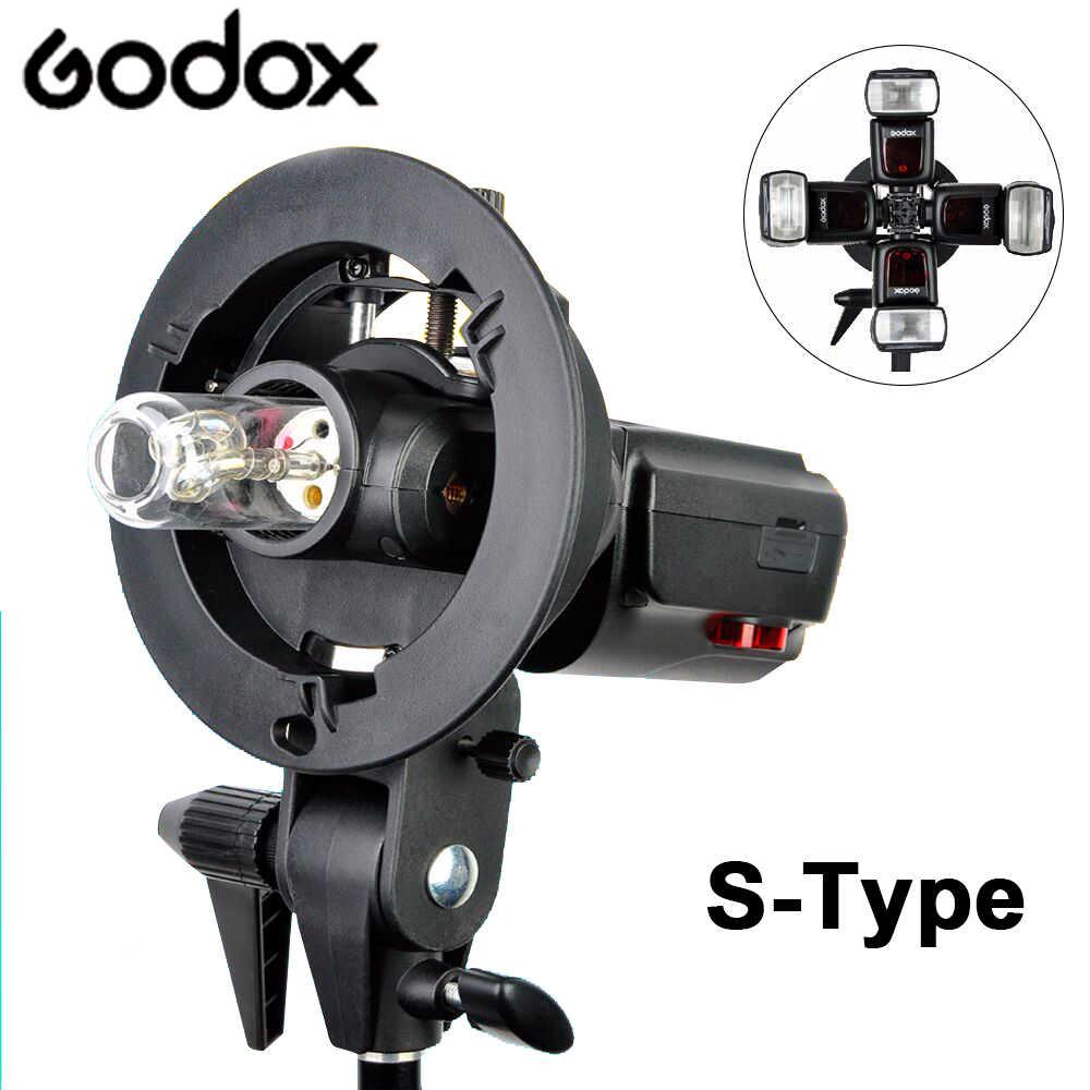 Godox s-образный кронштейн Bowens S держатель для фотостудии DSLR камера Вспышка Speedlite светильник софтбокс Отражатель Зонтик