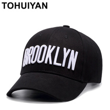 TOHUIYAN BROOKLYN Embroidey Berretto Da Baseball Per Le Donne Degli Uomini Hip  Hop Cappello di Estate d972cc5db21b