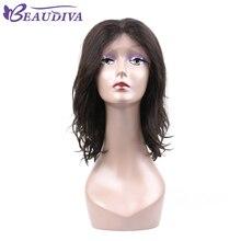 Short Bob Wigs Brazilian Virgin Hair Lace Front Human Hair Wigs For Black Women 150% Density Lace Wig Free Shipping