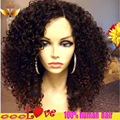 Brazilian Kinky Curly Full Lace Wig With Baby Hair Glueless Lace Front Human Hair Curly Wig For Black Women Virgin Full Lace Wig