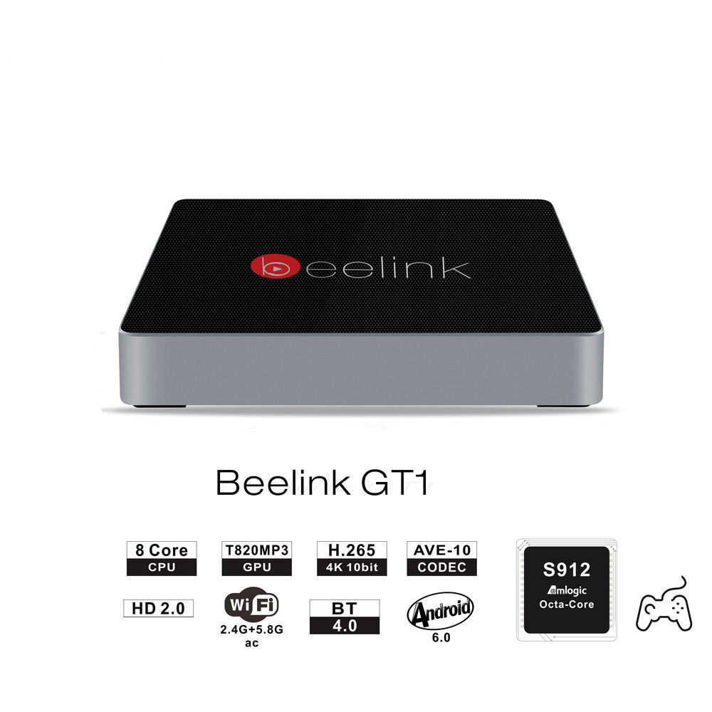 Beelink GT1 TV Box Android 6.0 Amlogic S912 Octa Core H.265 Smart TV Box Dual WiFi BT 4.0 2G DDR3 RAM 16G 32G Android PC Player медиаплеер beelink gt1 2 16