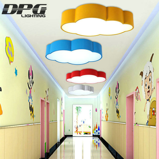 Online Shop LED Cloud kids room lighting children ceiling lamp Baby     LED Cloud kids room lighting children ceiling lamp Baby ceiling light with  yellow blue red white for boys girls bedroom fixtures
