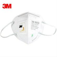 5pc 3M9003V Children Anti dust PM 2.5 Mask Anti influenza Breathing valve non woven fabric folding filter mask KN90 safety masks