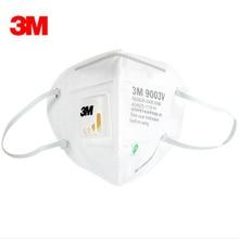 5pcs 3M9003V Children Anti dust PM 2.5 Mask Anti influenza Breathing valve non woven fabric folding filter mask N95 safety masks
